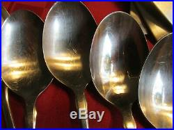 ONEIDA 58 PC Paul Revere Community StainlesS flatware WITH PISTOL HANDLE KNIVES