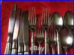 ONEIDA ACT II (2) Cube Mark Stainless Steel Flatware 24 pieces