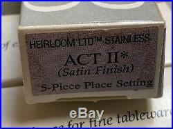 ONEIDA ACT II (2) Cube Stainless Steel Flatware 20 pieces