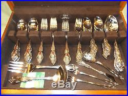 ONEIDA COMMUNITY BRAHMS Stainless Flatware Service for 12 w box 84 pcs EXCELLENT