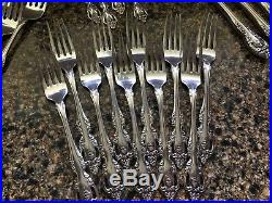 ONEIDA COMMUNITY STAINLESS BRAHMS 72 Pcs. Service for 9 PLUS SERVING! WOW