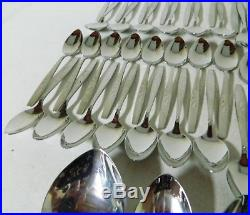 ONEIDA CUBE WILL O WISP Service for 12 Stainless Flatware Set of 74pc EUC