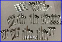 ONEIDA Community Betty Crocker Stainless Steel 68 Pcs CLARETTE Flatware USA Lot