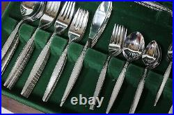 ONEIDA Community Vintage Stainless 76 Piece Cutlery Set Wood Canteen Case 214