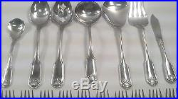 ONEIDA Cube Stainless CLASSIC SHELL Service For 12 Plus Serving Pieces NICE