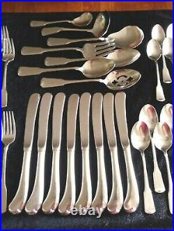 ONEIDA Cube Stainless Flatware AMERICAN COLONIAL 46 Piece Service for 8