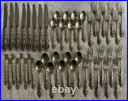 ONEIDA Da Vinci Stainless Steel Flatware Discontinued 48 Pieces Set Forks Spoons