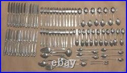 ONEIDA Deluxe Stainless 98 Pcs POLONAISE Burnished Rose Cameo Flatware USA Lot