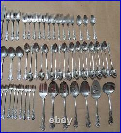ONEIDA Distinction Deluxe Stainless HH 87 Pc KENNETT SQUARE Flatware USA EUC LOT