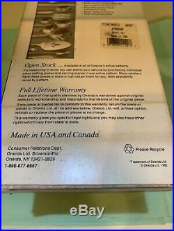 ONEIDA MICHELANGELO STAINLESS 18/8 Cube Mark RARE USA NIB Service of 12 (60 Pcs)