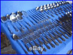 ONEIDA-ONEIDACRAFT DELUXE CHATEAU 87 Pc STAINLESS STEEL FLATWARE SERVICE 8+ SETS