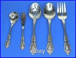 ONEIDA Renoir SS Stainless Flatware 16 Place Settings 5 Serving Pieces