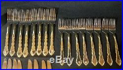 ONEIDA Stainless GOLDEN ROYAL CHIPPENDALE Community USA Set of 46 pieces
