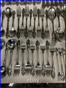 ONEIDA Stainless RENOIR Pembrooke 69 PIECE FLATWARE SET Forks Spoons Knife SSS