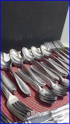 ONEIDA USA CAMBER-SCROLL 167 pc STAINLESS STEEL FLATWARE SET32+ SETTINGS