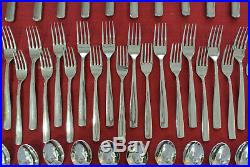 Oneida 18/10 Strauss USA stainless steel 5-piece place setting for 8