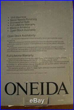 Oneida 18/8 Stainless CANTATA 64 Pc Service for 12 Unused Community USA Glossy