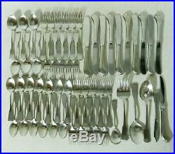Oneida AMERICAN COLONIAL Cube Heirloom Stainless Flatware Set of 56pc