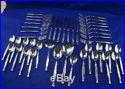 Oneida Act 1 (43) Pieces-Forks-Knives-Spoons-4 Serving Pieces Gravy Casserole ++