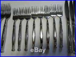 Oneida Act 1 Stainless Flatware 44 Pieces Service for 8 plus 4 Serving Untensils