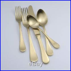 Oneida Alessandra Gold 20 Piece Service for 4 18/10 Stainless Flatware Set