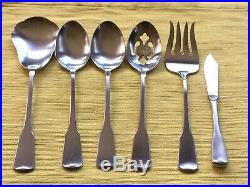 Oneida American Colonial Cube Stainless USA flatware Set of 30 pieces