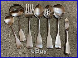 Oneida American Colonial Cube Stainless USA satin flatware 67 pieces