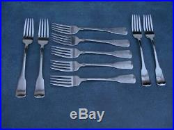 Oneida American Colonial Cube Stainless (lot Of 9) Dinner Forks