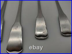 Oneida American Colonial Flatware Stainless Cube Mixed 30 Pieces Forks Spoons