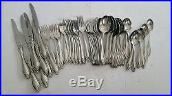 Oneida Arbor American Harmony Stainless Steel Flatware 69 Piece Mixed Lot
