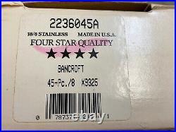 Oneida Bancroft 18/8 Stainless Steel USA Flatware 45 pieces set