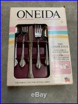 Oneida Bancroft Stainless 18/8 USA Flatware 45 pieces NEW