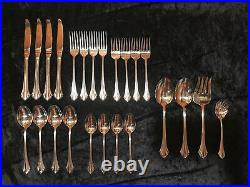 Oneida Bancroft Stainless Flatware Set 24 pieces Four 5-Pc Settings