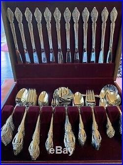 Oneida Brahms Community stainless flatware 138 pieces
