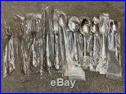 Oneida Brahms Community stainless flatware 146 pieces NEW