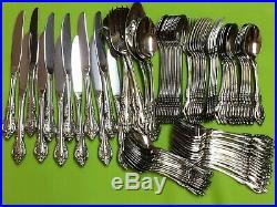 Oneida Brahms community stainless USA flatware set of 80 pieces