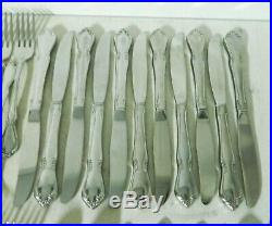 Oneida CHATEAU Oneidacraft Deluxe Stainless Silverware Set Service for 8+ 89pc