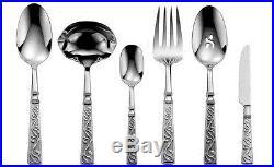 Oneida Castellina 66 Piece Service for 12 Flatware Set 18/10 Stainless Steel