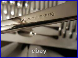 Oneida Chandler 65 Piece Service for 12 Quality Stainless 18/10 Flatware with Tray