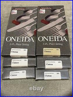 Oneida Chateau Deluxe Stainless steel Flatware 30 pc set