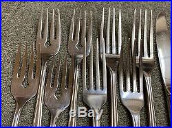 Oneida Clarette community stainless flatware 20 pieces