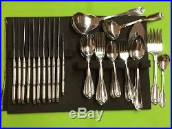 Oneida Classic Shell Cube Mark USA Stainless set of 51 pieces
