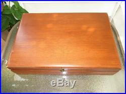 Oneida Community Beethoven Flatware Set 55 Pieces Wooden Case