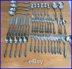 Oneida Community Brahms Stainless Flatware Set 49 Pieces & Serving, Obscure