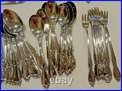 Oneida Community CHATELAINE Stainless Flatware Set 65 Pieces Service For 8