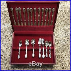 Oneida Community Cantata stainless Flatware Set 56 pieces +2 Serving Spoons Box