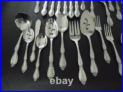 Oneida Community Chatelaine Stainless Flatware 51 PCS Includes Hostess & Serving