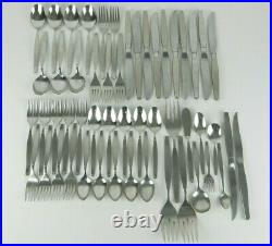 Oneida Community FROSTFIRE Stainless Flatware Set Service for 5+ 53pc