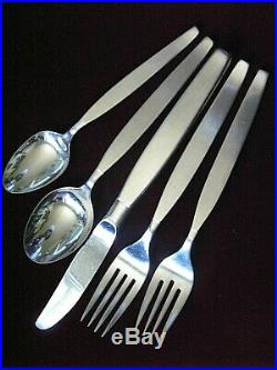 Oneida Community' Frostfire' 48 Pc Set Service for 8 Mid Century Stainless