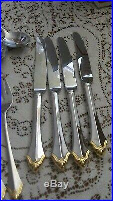 Oneida Community Golden Kenwood 20/pc Svc/4. Stunning. Special Occasion use a9
